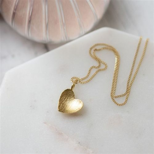 Personalised Heart of Gold Pendant Necklace